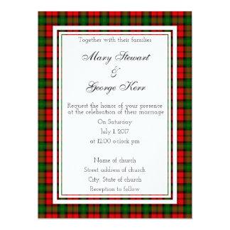 Invitación escocesa del boda de Kerr