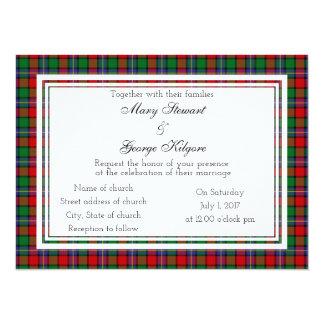 Invitación escocesa del boda de Kilgore