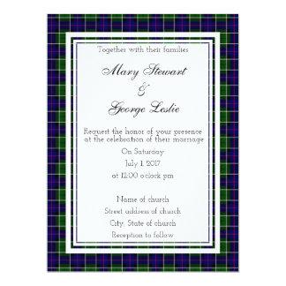 Invitación escocesa del boda de Leslie