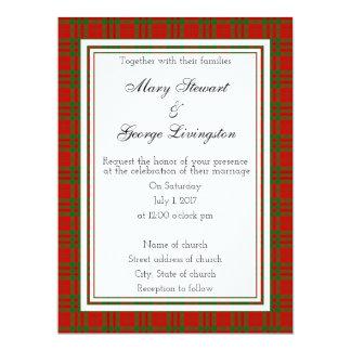 Invitación escocesa del boda de Livingston