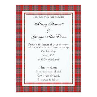 Invitación escocesa del boda de MacBean