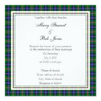 Invitación escocesa del cuadrado del boda de Jones