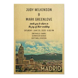 Invitación España del boda de Madrid