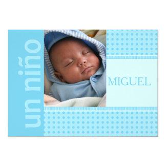 invitación española del nacimiento del bebé