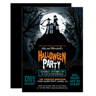 Invitación espeluznante del fiesta de Halloween de