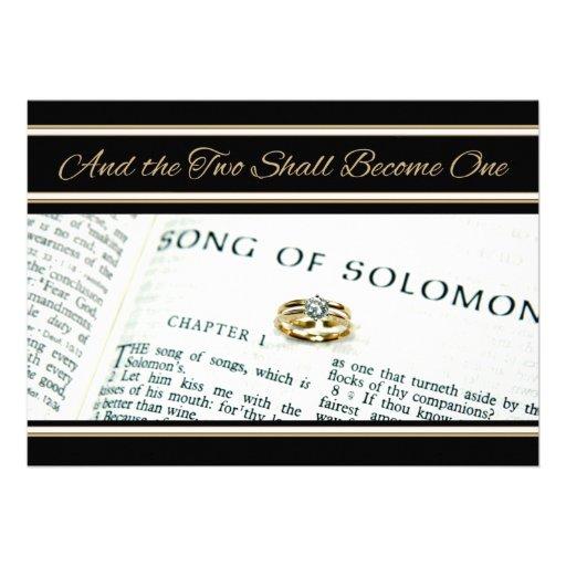 Invitación espiritual cristiana del boda de la esc
