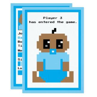 Invitación étnica inscrita del bebé del juego del