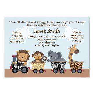 Invitación expresa/animal del safari del tren de