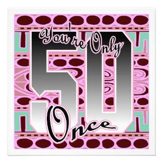 Invitación fabulosa de la fiesta de cumpleaños 50