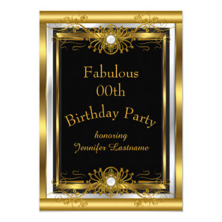 Invitación fabulosa de la fiesta de cumpleaños del invitación 12,7 x 17,8 cm