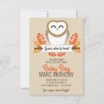 Invitación fall owl boy SIP & SEE autumn baby shower