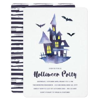 Tarjeta Invitación fantasmagórica del fiesta de Halloween
