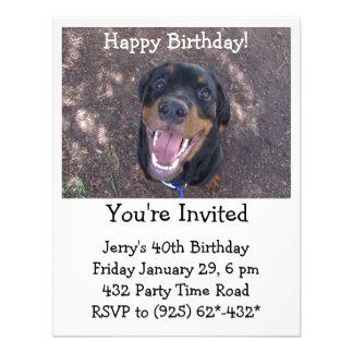 Invitación feliz de Heidi Rottweiler