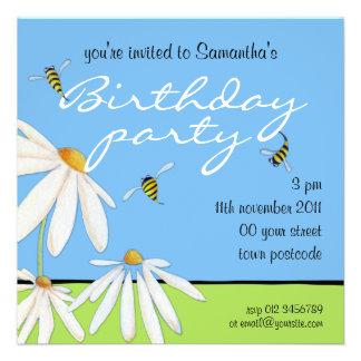 Invitación feliz de la fiesta de cumpleaños de las