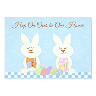 Invitación feliz del alumerzo de los conejitos de