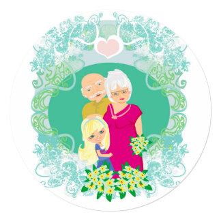 Invitación feliz del día de los abuelos