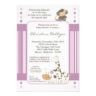 invitación femenina de la fiesta de bienvenida al