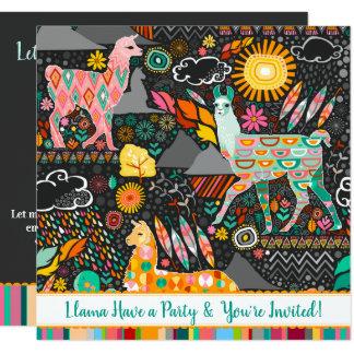 Invitación festiva colorida del fiesta de las