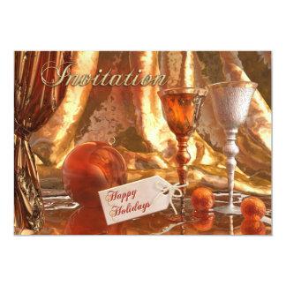 Invitación festiva del día de fiesta del navidad
