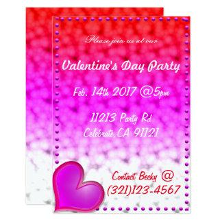 Invitación festiva del día de San Valentín