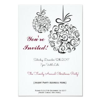 Invitación festiva del navidad de la celebración