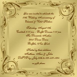 Invitaciones De Boda Aniversario Zazzle Es