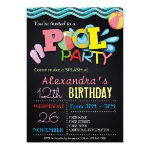 Invitaciones Para Fiestas En La Piscina