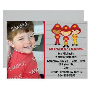Invitaciones De Cumpleaños Personalizadas Fireman Sam