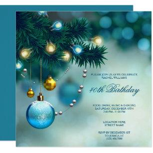 Invitación Fiesta De Cumpleaños Elegante Del Navidad De Las
