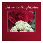 Invitación - Fiesta de Cumpleaños - roja de Rosa
