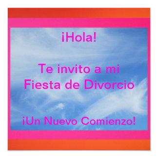 Invitación - Fiesta de Divorcio Invitación 13,3 Cm X 13,3cm