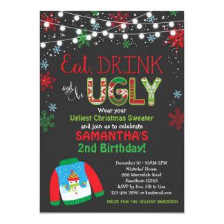 Invitación/fiesta de Navidad feas del cumpleaños Invitación 12,7 X 17,8 Cm