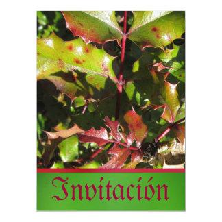 Invitación - fiesta - hojas del acebo