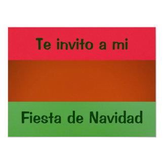 Invitación - fiesta Navidad - colores de México