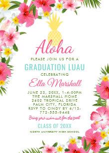 Invitaciones Hawaianas De La Flor Zazzle Es