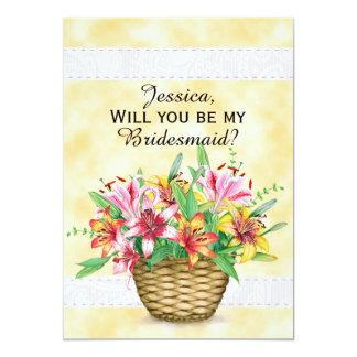 Invitación floral amarilla rosada anaranjada de la