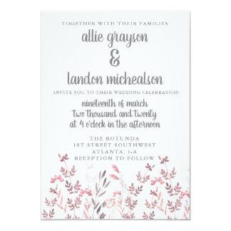 Invitación floral caprichosa del boda de la