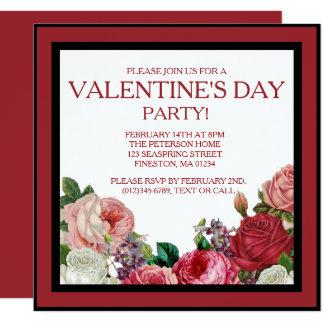 Invitación floral color de rosa del fiesta de las