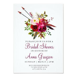 Invitación floral de Bridalshower de la acuarela