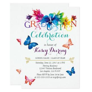 Invitación floral de la celebración de la