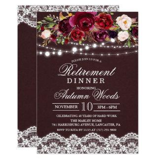 Invitación floral de la cena del retiro del otoño