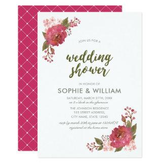 Invitación floral de la ducha del boda de la