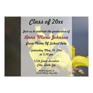Invitación floral de la graduación de la primavera