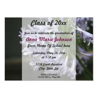 Invitación floral de la graduación del color de la