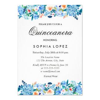 Invitación floral de Quinceanera de los Peonies