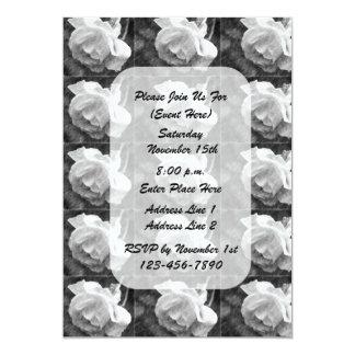 Invitación floral del arte del capullo de rosa
