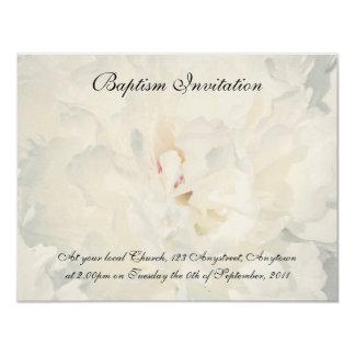 Invitación floral del bautismo