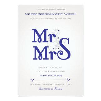 Invitación floral del boda de Amperstand en marina