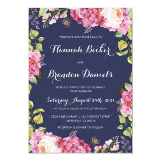 Invitación floral del boda de Boho
