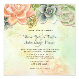 Invitación floral del boda de la acuarela